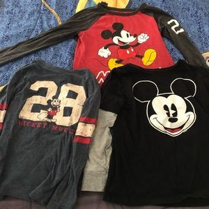 Old navy Micky mouse long sleeve tees.